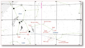 Chart of Orion and Eridanus